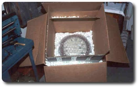 double box packing with a clock
